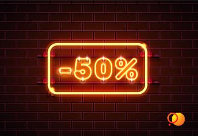Скидка 50% повторным клиентам